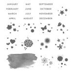 Perpetual Calendar Stamp Set