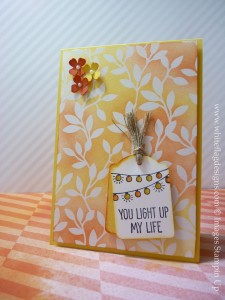 SAB Irresistibly Yours You Light Up My Life Card