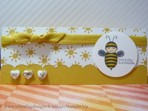 Little Baby Bumblebee Baby Card