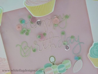 Framelit Birthday Shaker Card