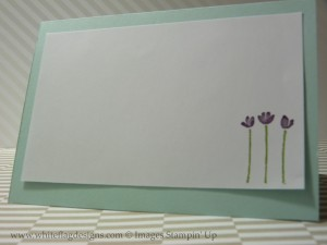 Painted Petals Card - Inside