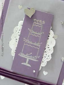 Silver Heat Embossed Wedding Cake Image