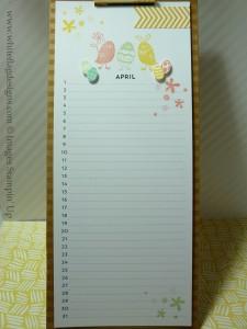 Perpetual Calendar Kit April