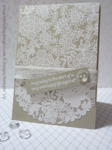 Something Borrowed & Lacy Wedding Card