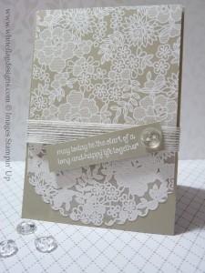 Something Borrowed & Lacy Wedding Card