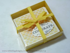 3 x 3 Notecard Box with Daffodil Delight