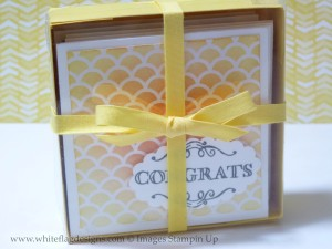 3 x 3 Notecard box with Daffodil Delight Ribbon