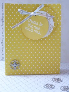 Daffodil Delight Wedding Favour Bags
