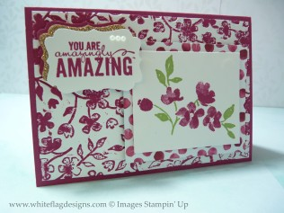 Rose Red Embossed Card
