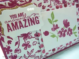 Rose Red Painted Petals Card