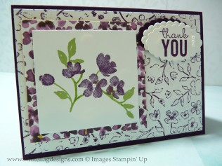 Blackberry Bliss Stamped Background