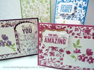 Stamping with Embossing Folder Cards