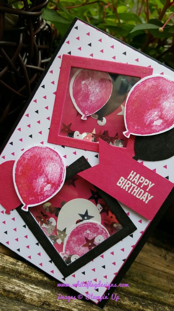Pootlers Design Team Balloon Builders Rainbow Birthday Card Week 5